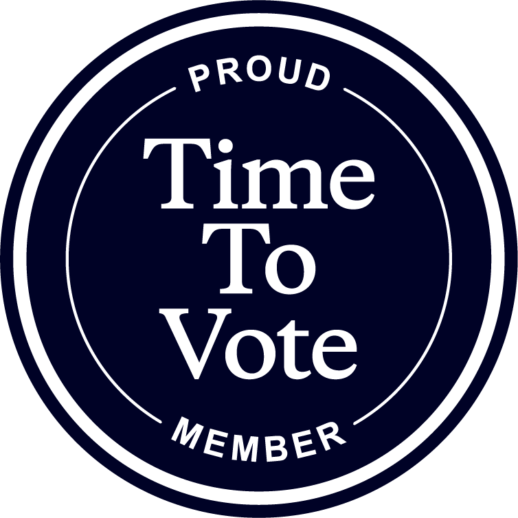 Badge displaying W.C. Bradley is a Proud Time To Vote Member
