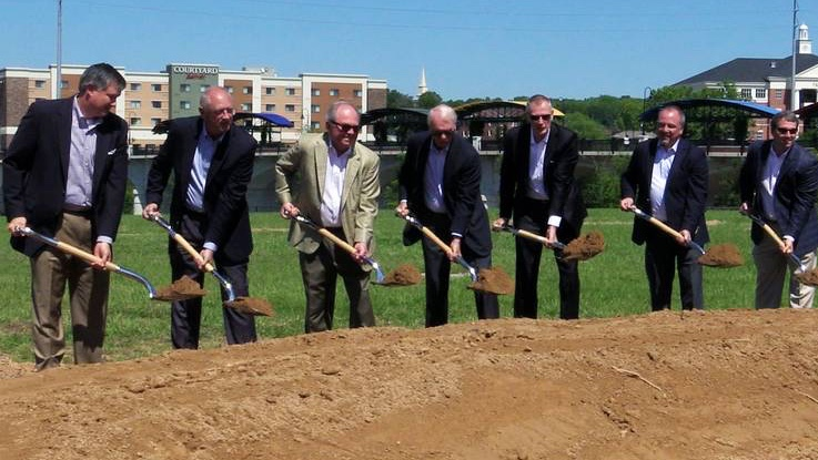 Groundbreaking held for major riverfront development—The Rapids at Riverfront Place